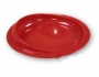 Plate with non-slip base red