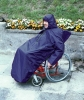 Wheelchair cape with sleeves lined