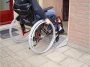 Wheelchair mobile threshold plate