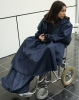 Wheel chair Rain cape with removable lining